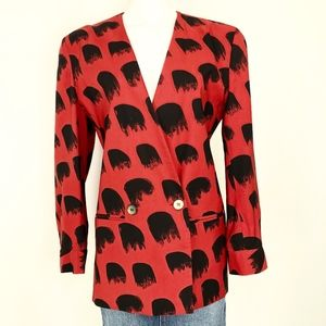 Vintage ADRI New York | 80s Deco Blazer Red Black